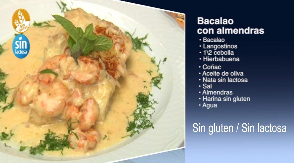 Bacalao con almendras, sin gluten y sin lactosa (con vídeo)