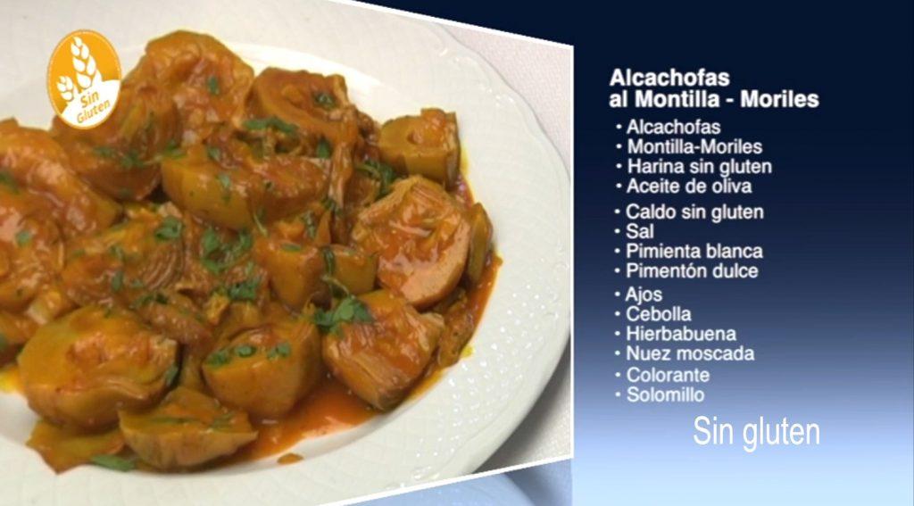 Alcachofas al Montilla-Moriles, sin gluten (con vídeo)