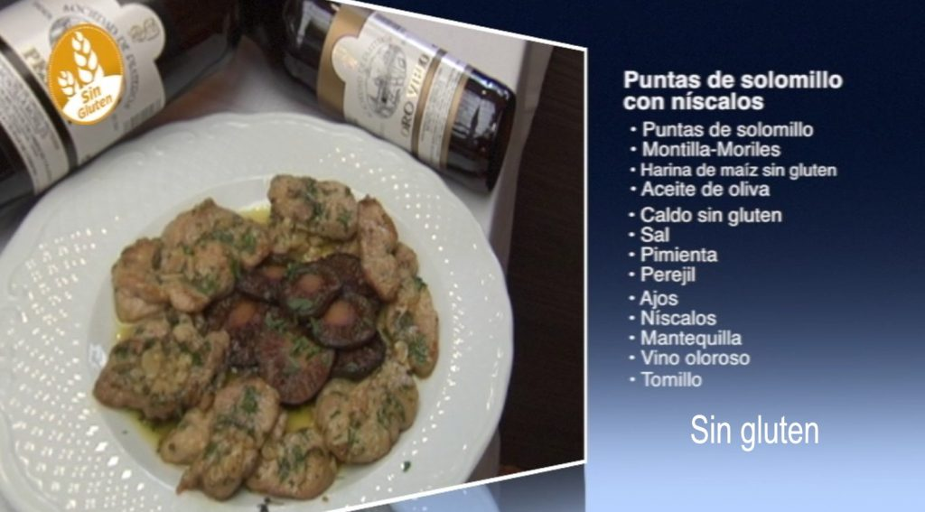 Puntas de solomillo con níscalos, sin gluten (con vídeo)