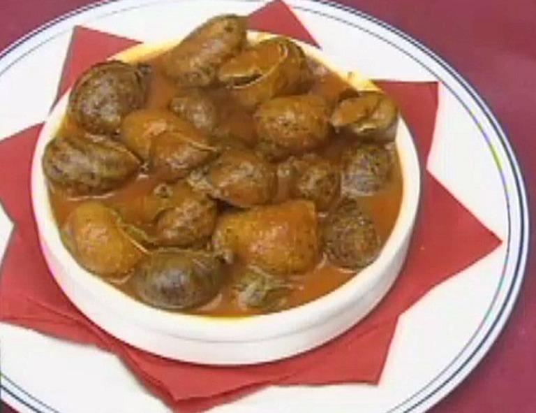 Caracoles gordos en salsa (con vídeo)