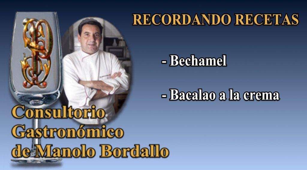 Bechamel y Bacalao a la crema (con vídeo)