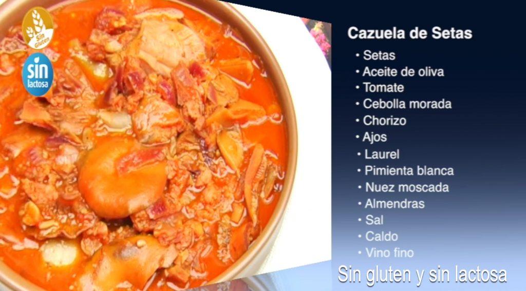 Cazuela de setas sin gluten y sin lactosa (con vídeo)