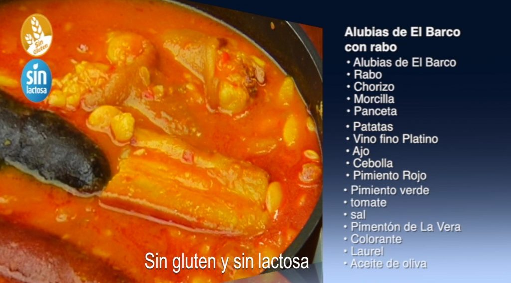 Alubias con rabo sin gluten y sin lactosa (con vídeo)