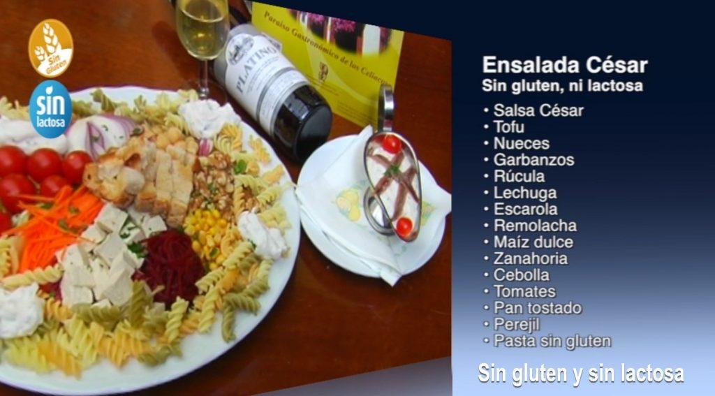Ensalada César sin gluten y sin lactosa (con vídeo)