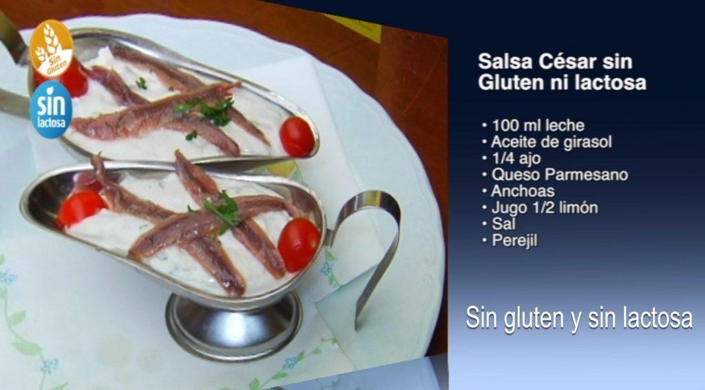 Salsa César sin gluten y sin lactosa (con vídeo)