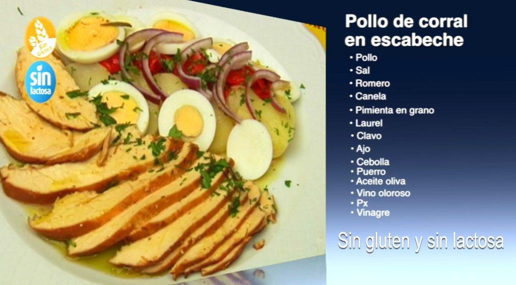 Pollo de corral en escabeche sin gluten y sin lactosa (con vídeo)